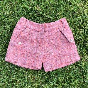 vintage pink tweed shorts